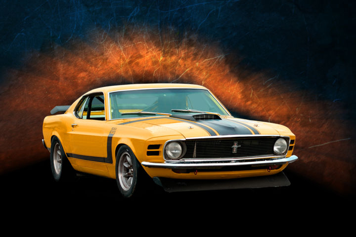 1970 Orange Boss Mustang (Cars)