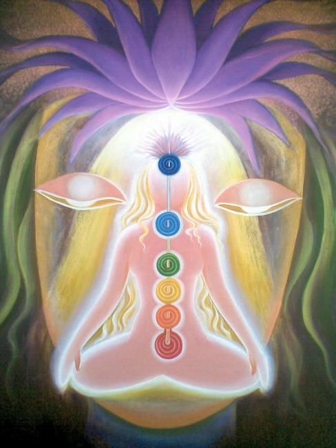 ENLIGHTENMENT - Painting,  54x42 in, ©2011 by Sudha Sama -