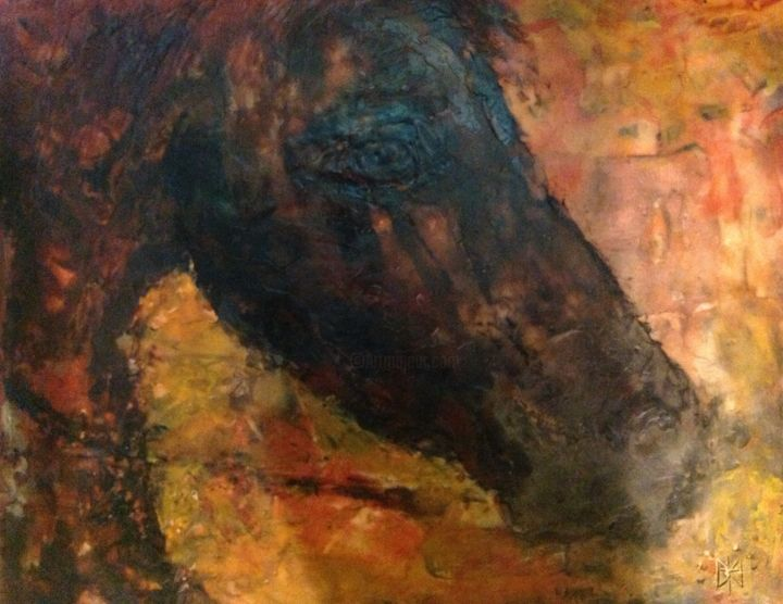 """Painting titled """"Louis"""" by Sue Cahill, Original Art, Oil"""