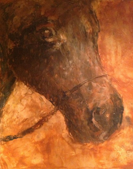"""Painting titled """"Toby"""" by Sue Cahill, Original Art, Oil"""