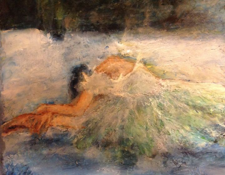 """Painting titled """"Surrender II"""" by Sue Cahill, Original Art, Oil"""