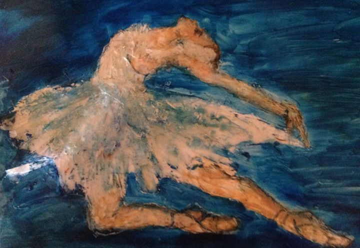 """Painting titled """"Letting Go"""" by Sue Cahill, Original Art, Oil"""