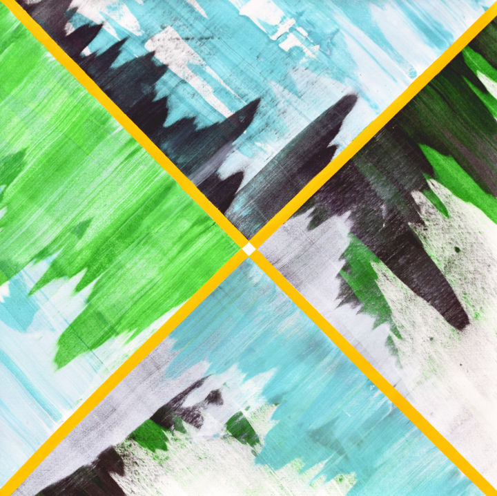 Aeygon Acrylic painting - © 2019 water, scales, waves, sound waves, sound frequency Online Artworks