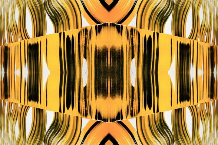 Attayaka - Digital Arts,  40x60 in, ©2020 by Sumit Mehndiratta -                                                                                                                                                                                                                                                                                                                                                                                                                                                                                                  Abstract, abstract-570, Abstract Art, Colors, Geometric, Patterns, yellow and black, yellow and white, yellow abstract, large yellow abstract