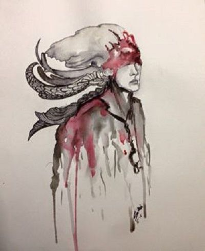 """Painting titled """"Trust"""" by Sana Anwer, Original Art, Watercolor"""