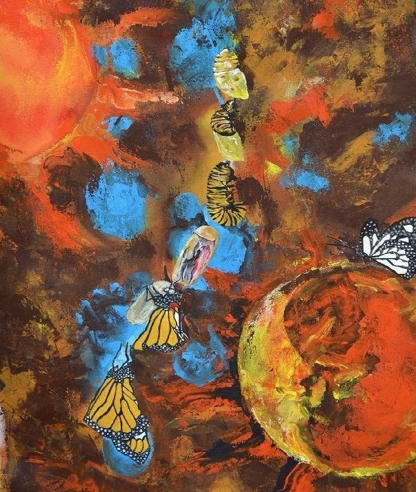 """Painting titled """"Togetherness"""" by Sana Anwer, Original Art, Acrylic"""