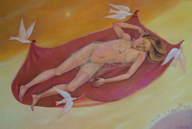 Painting,  60 x 90 cm ©2010 by Zira -  Painting, Nudes in Art