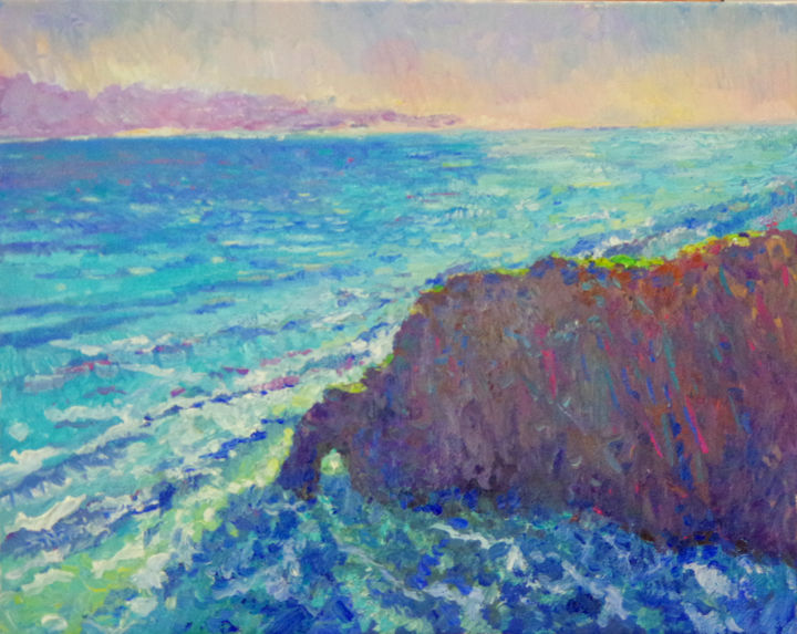 Evening On Pacific Ocean From Hawaii Painting By Suren Nersisyan