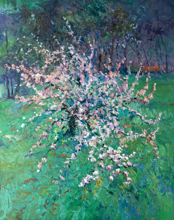 """Painting titled """"Blooming of Apple T…"""" by Suren Nersisyan, Original Art, Oil"""