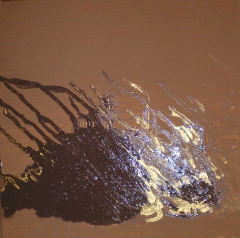 """Painting titled """"Archaic T1"""" by Susan Olij, Original Art,"""