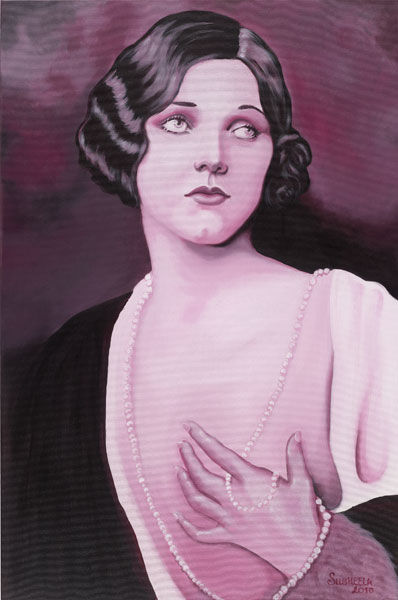 """Painting titled """"Adrienne Ames"""" by Susheela, Original Art, Oil"""
