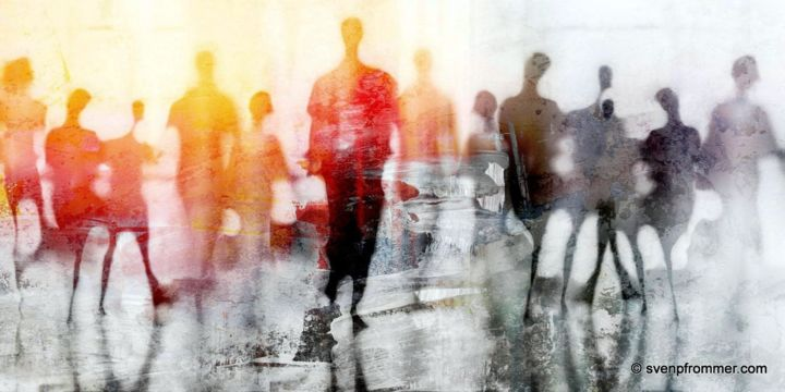 """Printmaking titled """"URBAN BLUR III by S…"""" by Sven Pfrommer, Original Art, Analog Print"""