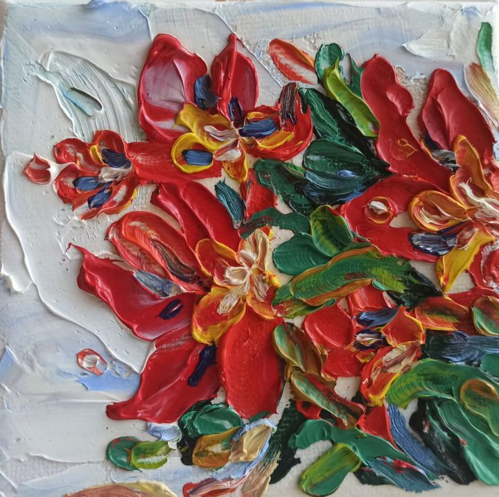"""Painting titled """"Small oil painting…"""" by Svetlana Sindere, Original Art, Oil Mounted on Stretcher frame"""