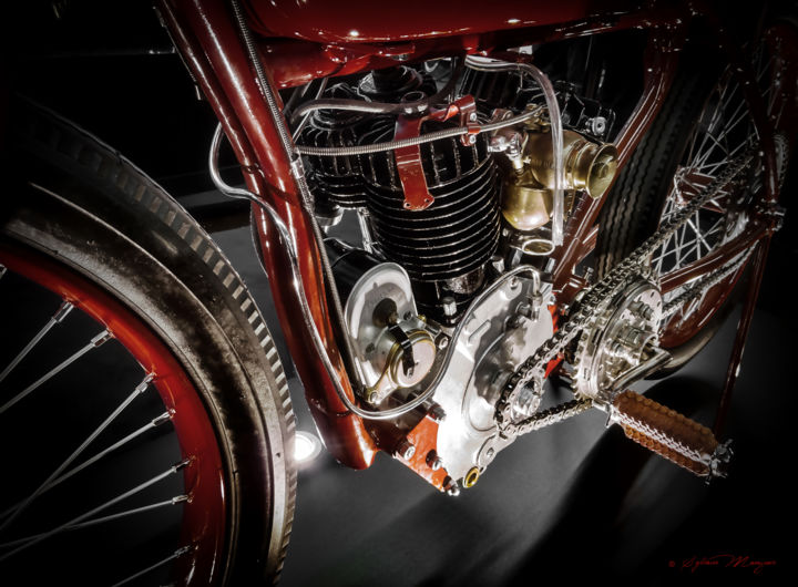 Indian Motorcycle C.O - Photography ©2015 by Sylvain Manguer -                            Motorcycle, moto, indian, vintage, collection, springfield, splitdorf, sport, auto, mécanique, usa