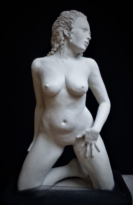 L'AUDACIEUSE - Sculpture,  19.7x11x11.4 in, ©2020 by SB -