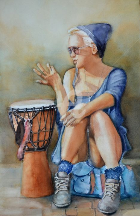 sylvie-griselle-29-x-45.jpg - Painting, ©2016 by sylvie griselle -
