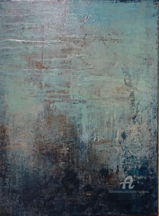 F5 - Painting,  30x40 cm ©2018 by SYLVIE LOUDIERES -                                                        Abstract Art, Canvas, Abstract Art