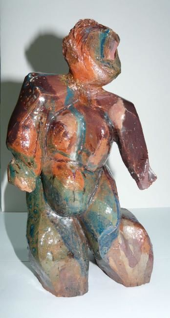 Danse - Sculpture,  9.8x5.9 in, ©2000 by Sylviehebrard -                                                              Body