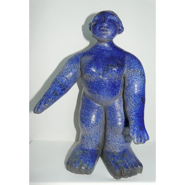 IRISEE - Sculpture,  35x20 cm ©2014 by sylviehebrard -                                                            Figurative Art, Ceramic, Body, céramique, raku