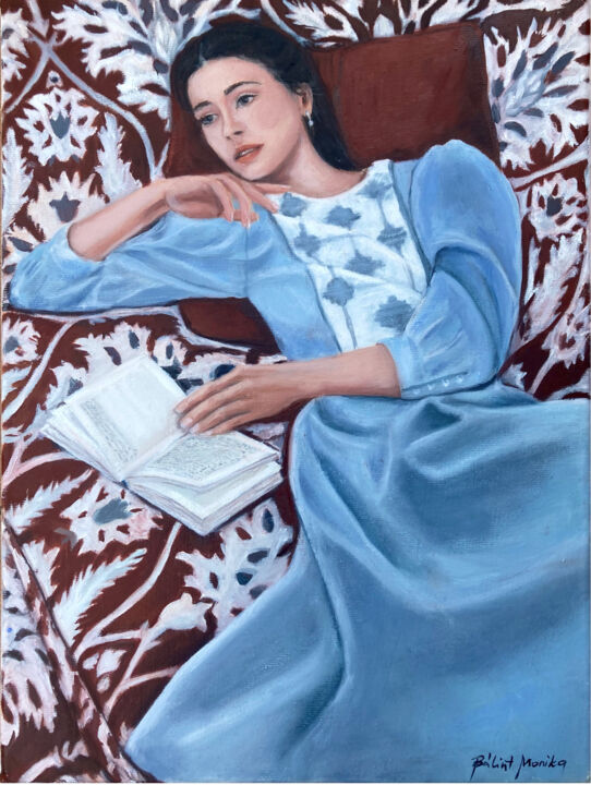 """Painting titled """""""" Forgotten dreams"""""""" by Monika Bálint, Original Art, Oil Mounted on Stretcher frame"""