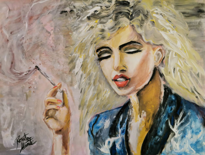 """Painting titled """"I HAVE TOLD YOU A H…"""" by Renata Maroti, Original Art, Tempera"""