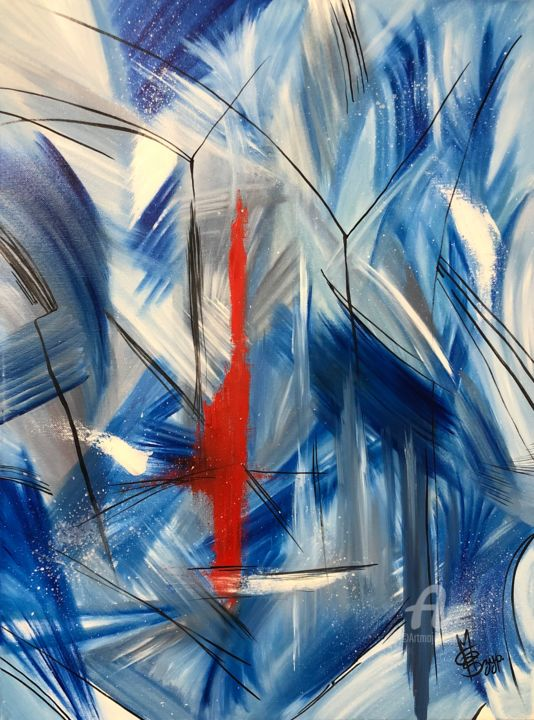 """Painting titled """"Impact: Underwater"""" by Mara G. Szyp (Szyp.ca), Original Art, Oil Mounted on Stretcher frame"""