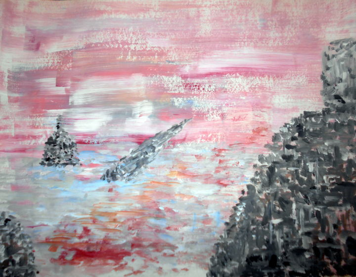 """Painting titled """"out of the ocean"""" by Tom Schrijver, Original Art, Acrylic"""