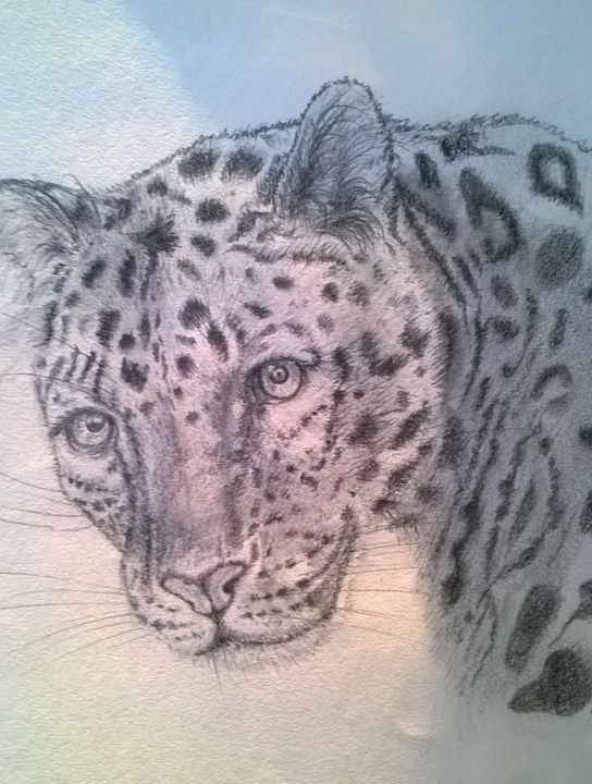 wp-20190309-18-08-18-pro-2.jpg Drawing Leopard - Drawing,  11.8x8.3 in, ©2015 by Irini -                                                                                                                                                                                                                                                                                                                                          Animals, Drawing, Pencil, Realism, Paper, Animals, Black pencil