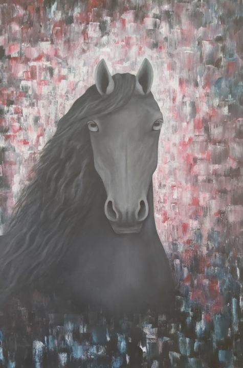 """Painting titled """"HORSE"""" by Tady Divjak, Original Art, Acrylic"""