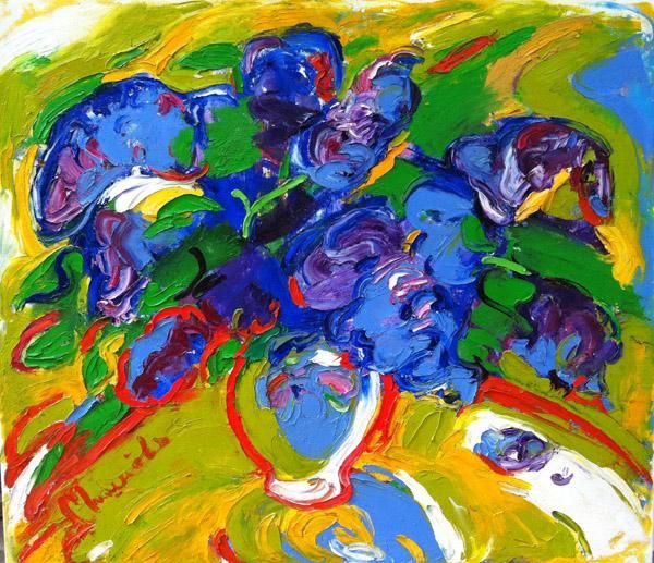"""""""Lilac"""" - Painting,  23.6x31.5 in, ©2011 by наталия мишнёва -                                                                                                                                                                          Fauvism, fauvism-942, lilac"""
