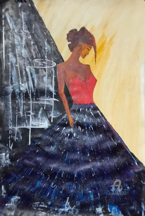 """Painting titled """"gblue"""" by Taijul, Original Art, Acrylic"""