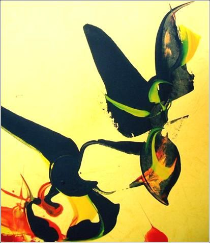 Fly 01 - Painting,  40x35 cm ©2012 by Delphine Bernard -            Ink jet print on canvas