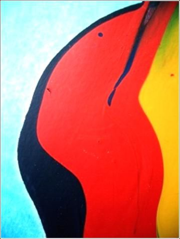 Fly 02 - Painting,  40x30 cm ©2012 by Delphine Bernard -            Ink jet print on canvas
