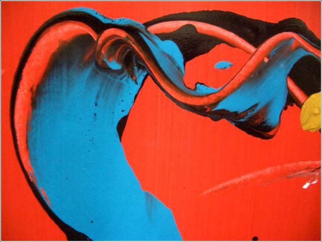Fly 03 - Painting,  30x40 cm ©2012 by Delphine Bernard -            Ink jet print on canvas