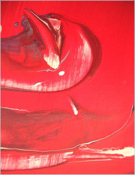 """Painting titled """"Red 11"""" by Delphine Bernard, Original Art,"""