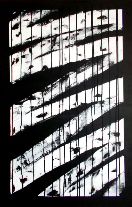 Black and White - Painting,  45.3x29.5 in, ©2019 by T. ANGOT -                                                                                                                                                                                                                                                                                                                                                                                                                                                                                                                                                                                                                                                                                                                                                                                                                                                                                                                                                                                                                                                                                                                                                                                                                                                                                                                                                                                                                                                                                                                                                                                                                                                                                                                                                                                                                                                                                                                                                                  Abstract, abstract-570, Abstract Art, Black and 