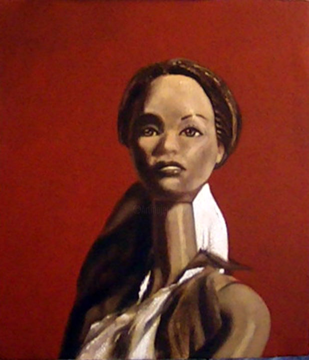 """Painting titled """"Barbie con moño"""" by Tancara, Original Art, Oil"""