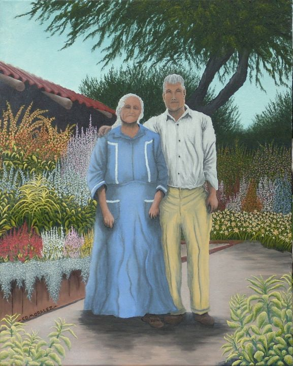 """Painting titled """"COVENANT KEEPERS"""" by Ed Moralez, Original Art, Oil"""