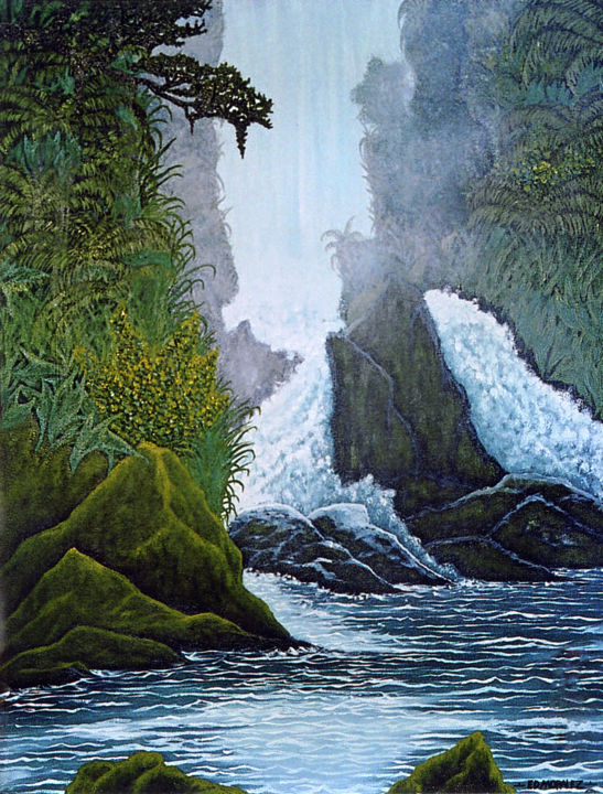 """Painting titled """"LIVING WATERS"""" by Ed Moralez, Original Art, Oil"""