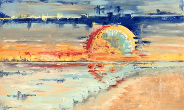 """Painting titled """"Amazing Sun, Oil 20…"""" by Tanya Stefanovich, Original Art, Oil"""