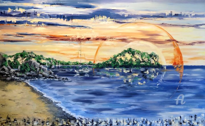 """Painting titled """"Costa Rica"""" by Tanya Stefanovich, Original Art, Oil"""