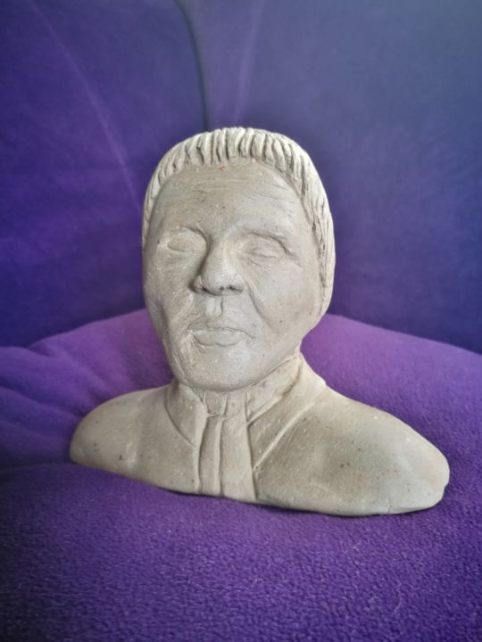 Head - Sculptuur,  3,9x2,4x2,4 in, ©2016 door Tarwan -
