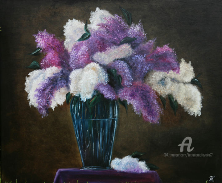 """Painting titled """"Arome of spring - n…"""" by Tanja Frost, Original Art, Oil Mounted on Stretcher frame"""