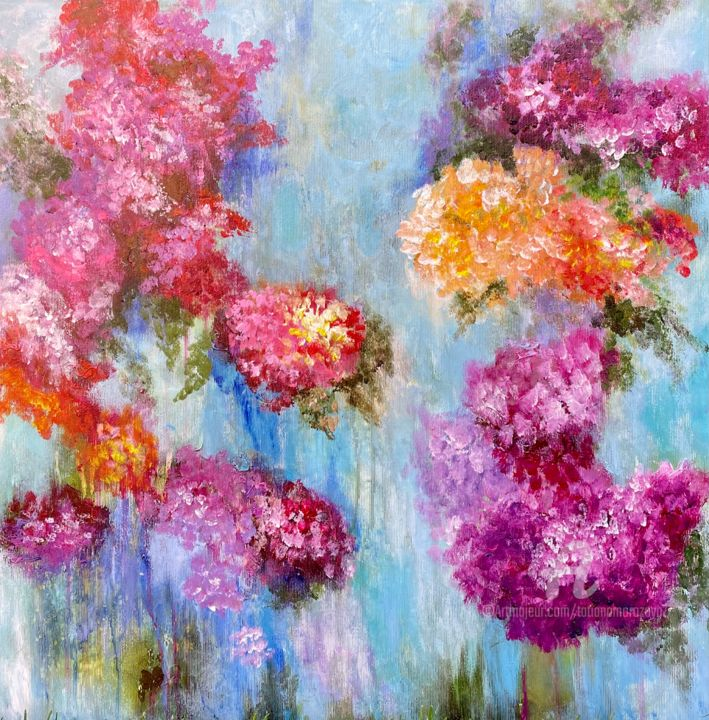 """Painting titled """"Color Dream -origin…"""" by Tanja Frost, Original Art, Acrylic Mounted on Stretcher frame"""