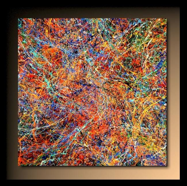 Abstraction P189 Painting By Tehos Artmajeur