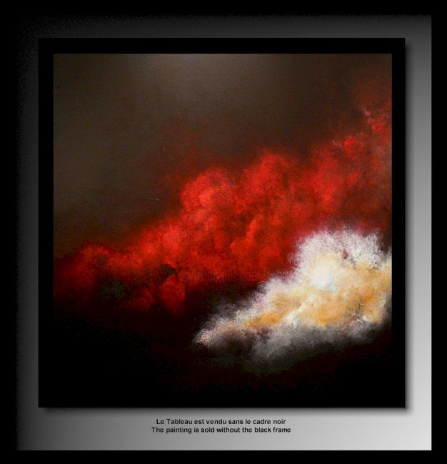Nuage rouge 20 tehos abstraction series a ad b d suite 2008 2009 - Tableau huile moderne ...