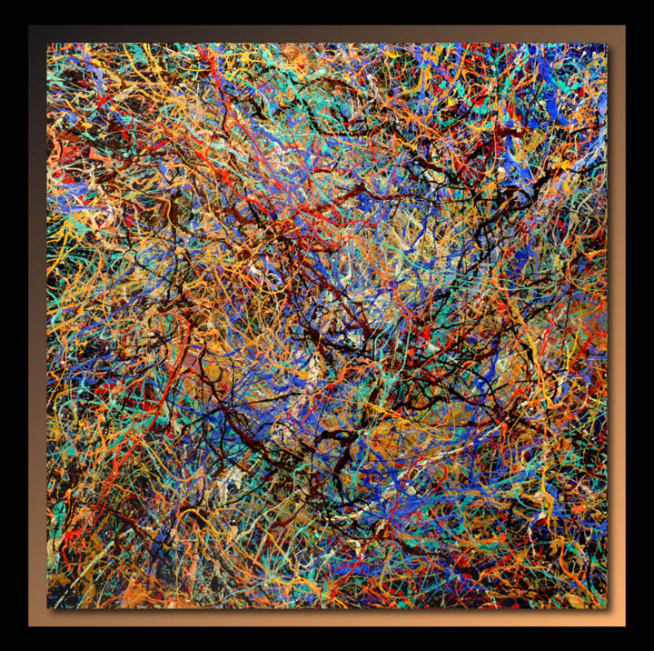 Abstraction p420 tehos for Tableau art contemporain