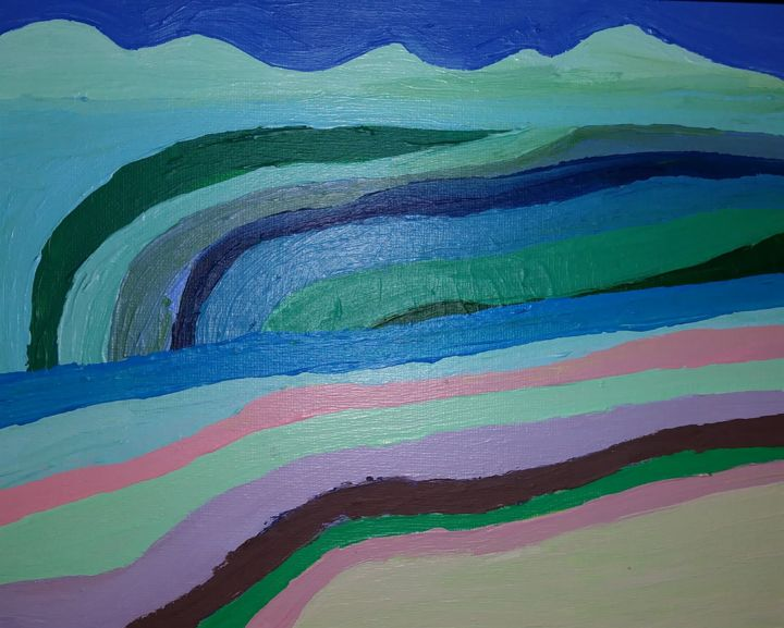 """Painting titled """"The Muddy Paths of…"""" by Liana Chiang, Original Art, Acrylic"""