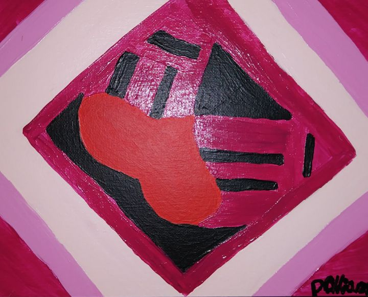 """Painting titled """"Love in the Shape o…"""" by Liana Chiang, Original Art, Acrylic"""