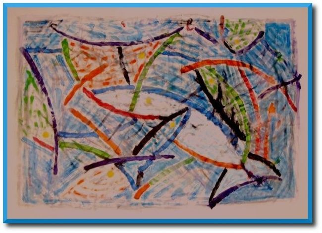 oeuvre robotique - Painting,  61x65 in, ©2007 by Simon -